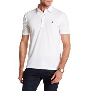 Volcom Banger Polo White Medium